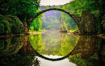 river, nature, forest, reflection, bridge, germany, devil's bridge, robert häfner, bridge rocketspace