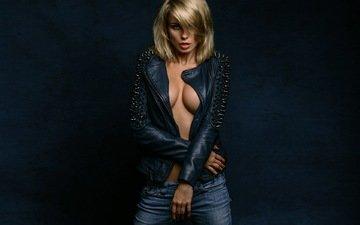 девушка, блондинка, модель