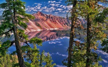 lake, mountains, nature, forest, landscape
