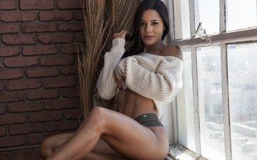 девушка, модель, позирует, katya henry