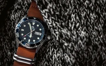 style, watch, fabric, time, wrist watch, orient