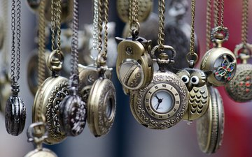 decoration, watch, time, pendants, chain