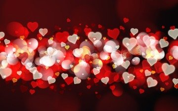 abstraction, background, hearts