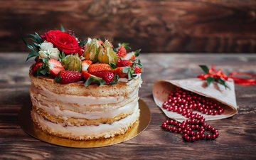berries, beads, cakes, cake, dessert