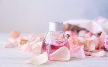 розы, лепестки, масло, аромат, духи, флакон