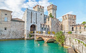 castle, italy, fortress, verona