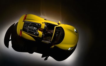 yellow, the view from the top, porsche, spyder, 918