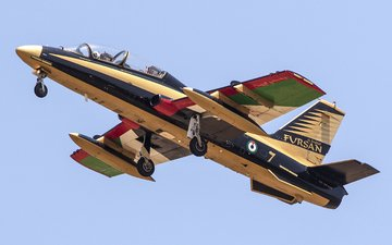 самолет, авиация, aermacchi, mb-339, italian training aircraft, light attack aircraft