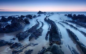 скалы, природа, камни, пейзаж, пляж, побережье, океан