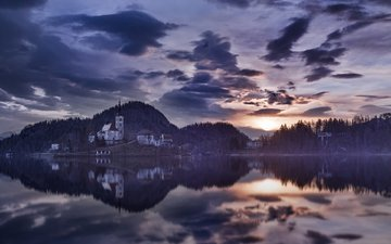 lake, nature, reflection, morning, home, slovenia, lake bled