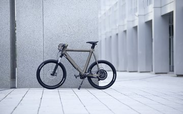 the city, the building, bike