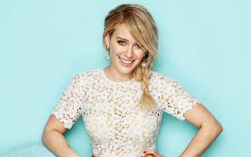 girl, blonde, smile, look, hair, face, actress, singer, earrings, hilary duff