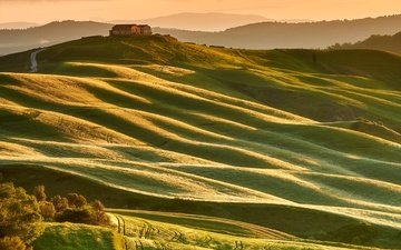 hills, nature, home, italy, tuscany