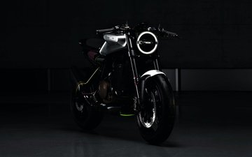 чёрно-белое, мотоцикл, husqvarna