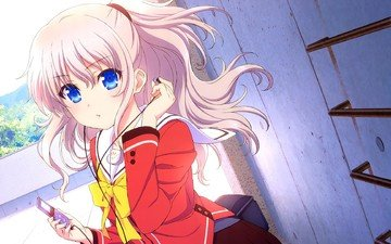 girl, headphones, charlotte, tomori nao