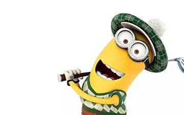 golf, kevin, minion, despicable me 2, movies, cartoon