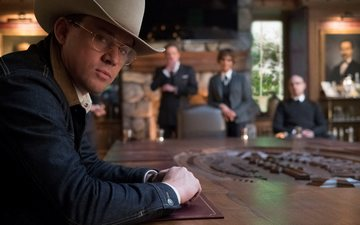 look, glasses, actor, face, hat, channing tatum, kingsman: the golden circle
