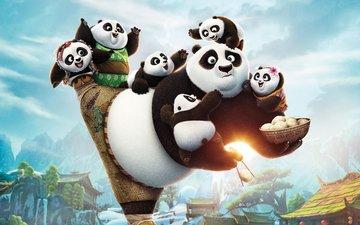 малыши, панды, kung fu panda 3, кунг-фу панда 3