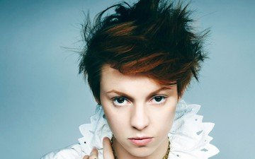 eyes, girl, portrait, hair, face, singer, hairstyle, brown eyes, la roux, elly jackson