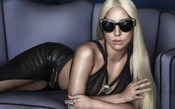 style, girl, blonde, music, actress, singer, jewelry, lady gaga, songwriter, accessories, sunglasses, versace