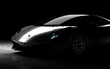 auto, black background, lamborghini, lamborghini gallardo