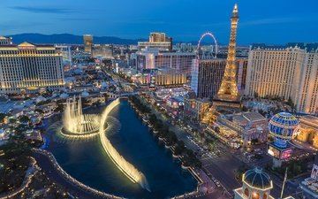 panorama, the city, usa, las vegas
