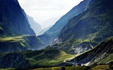 горы, природа, пейзаж, китай, тибет, лицзян