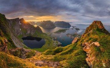 the sky, rocks, hills, sea, sergey stepanenko