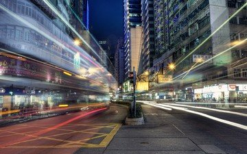 lights, the city, thread, excerpt, hong kong, wan chai