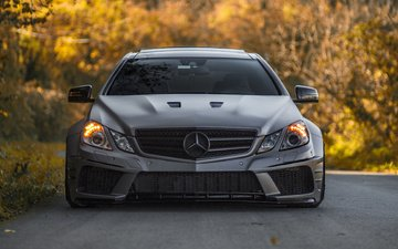 road, autumn, tuning, mercedes, mercedes-benz