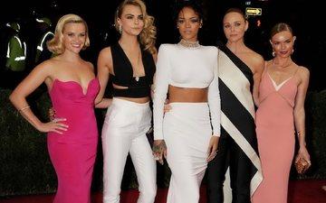 девушки, модели, рианна, актрисы, кейт босворт, риз уизерспун, ка́ра делеви́нь, mccartney