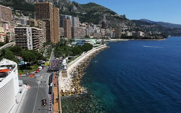 shore, sea, coast, building, monaco