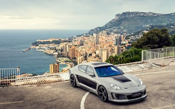 the view from the top, auto, porsche, panamera