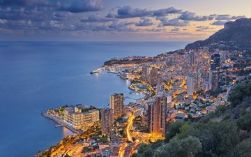 the city, skyscrapers, the ligurian sea, monaco