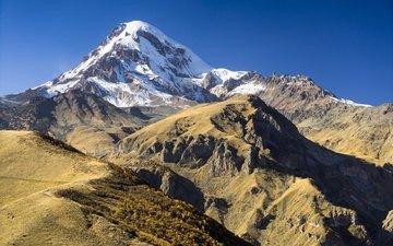 горы, грузия, кавказ, казбек, гергети, alex tsarfin