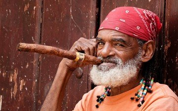 look, people, face, cigar, the old man, beard, cuba