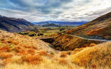 the sky, clouds, mountains, nature, landscape, new zealand, otago