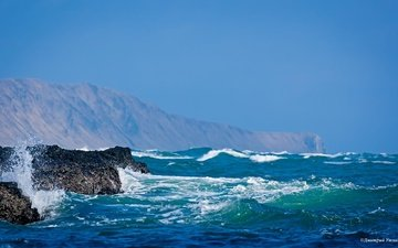 the sky, rocks, wave, coast, reef, the pacific ocean, cape waxes, bering island, the commander islands, dmitry utkin
