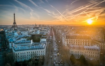 morning, the city, paris, france, eiffel tower, capital, frantsyya, eiffel bosnia