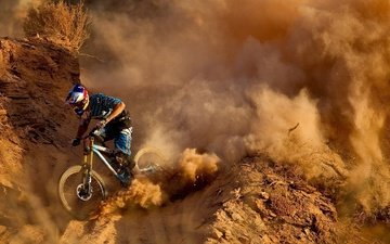 dust, bike, mountain, mountain bike