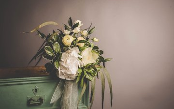 flowers, bouquet, tape, decor