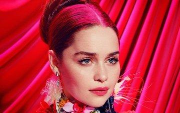 девушка, портрет, взгляд, лицо, знаменитость, красные волосы, эмилия кларк