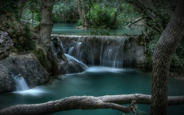 trees, river, forest, waterfall, france, cascade, sillans-la-cascade waterfall, sian-la-cascade, provence-alpes-côte d'azur
