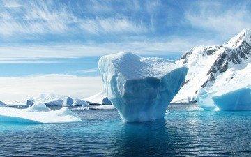 nature, winter, ice, iceberg, antarctica