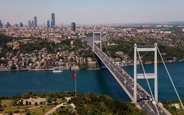 bridge, turkey, istanbul, the bosphorus, the bosphorus bridge