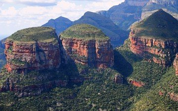 mountains, nature, landscape, canyon, rock, south africa, the blyde river canyon, mpumalanga