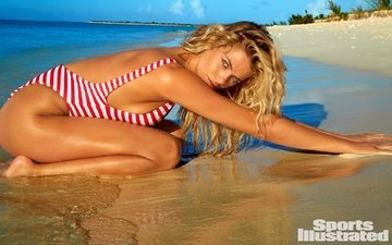 поза, блондинка, пляж, купальник, хейли клаусон