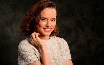 девушка, улыбка, портрет, модель, актриса, фотосессия, знаменитость, дэйзи ридли
