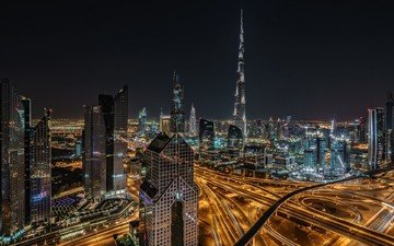 the city, skyscrapers, dubai, uae