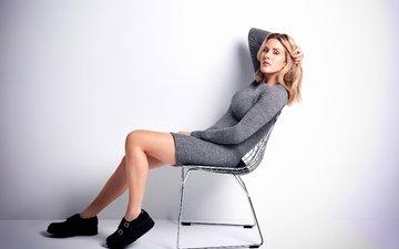 девушка, фон, поза, сидит, ножки, певица, элли голдинг, на стуле